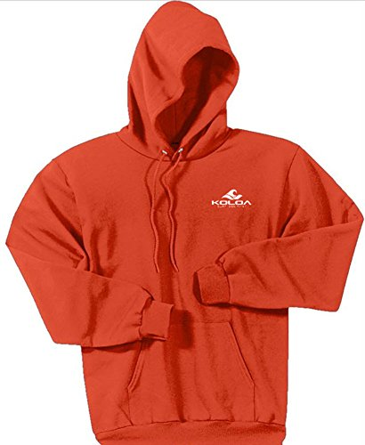Koloa Classic 2 Side Wave Logo Hoodies-Hooded Sweatshirt-Orange-M