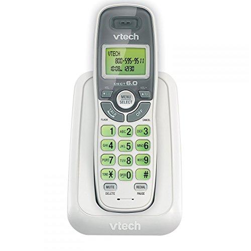 Phone Handset Landline, Vtech Cs6114 Single Home Handset Cordless Phone, White