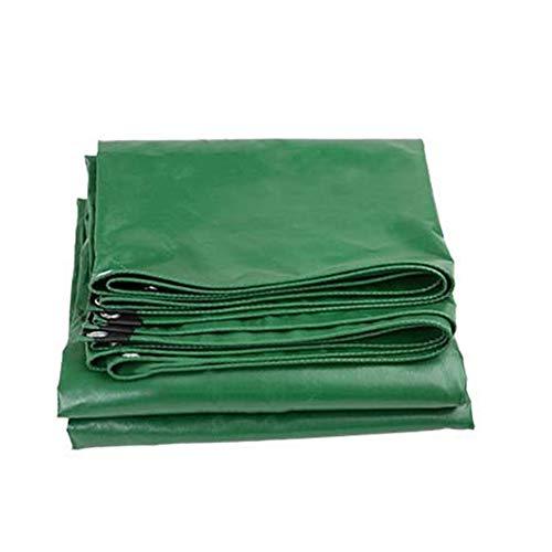 植木関数幽霊CHAOXIANG ターポリン サンシェード 厚い ポンチョ ナイフスクレーパー キャンバス 耐摩耗性 Pvc 厚さ0.42mm、 10サイズ、 カスタマイズ可能な (色 : Green, サイズ さいず : 5.8x7.8m)