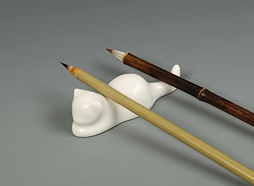 3.5*0.8*1.77 Easyou Black Catalpa Calligraphy Brush Holder Chinese Brush Rack 9 2 4.5cm