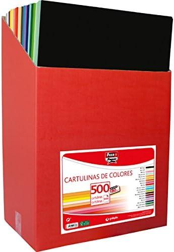 Fixo 4899 - Pack de 500 cartulinas, 50 x 65 cm, color surtido: Amazon.es: Oficina y papelería
