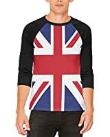 British Flag Union Jack Mens Raglan T Shirt