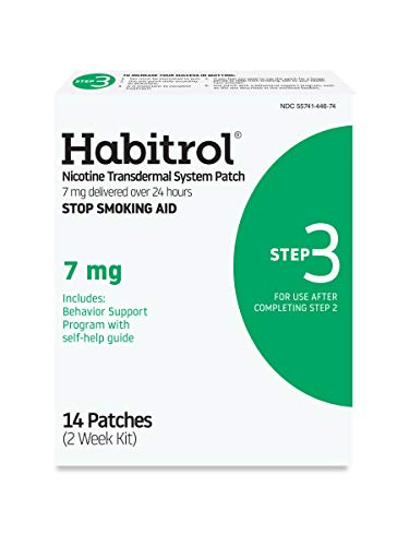 Habitrol Nicotine Transdermal System Patch | Stop Smoking Aid | Step 3 (7 mg) | 14 Patches | (2 Week Kit) | Packaging…