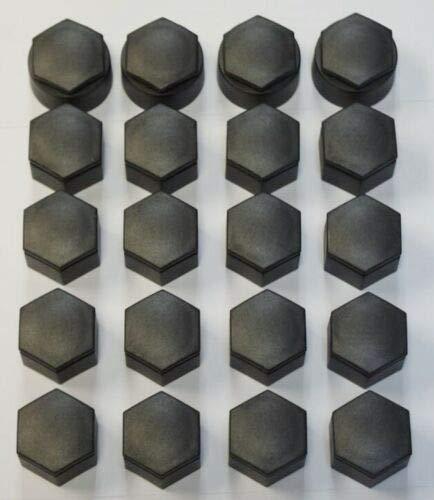 VAUXHALL INSIGNIA 2010-2017 WHEEL NUT BOLT COVERS CAPS 22mm DARK GREY x20 NEW