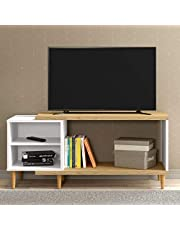 Ditalia rc-20 Moveis TV Rack for 32 inch TV, Brown/White, H38 x W94.5 x D11.5 cm