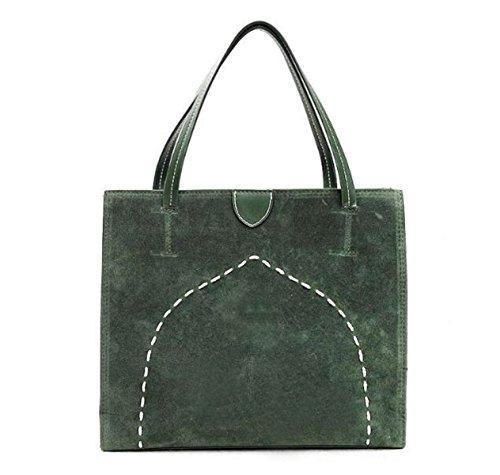 Bolsa Mujer Moda Bolso Bolso Pequeño Simple Matorral Estudiante Bolso Green