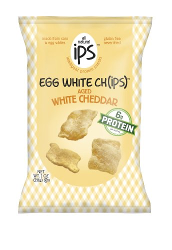 Ips The Original blanc d'oeuf Chips, Aged Cheddar blanc, une once (Pack de 24)