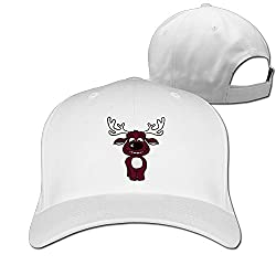 100% Cotton Flat Caps Cute Cartoon Animal Moose Ultra Breathable Foam Front Mesh Back Adjustable