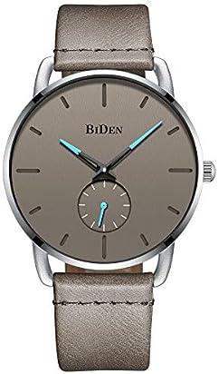 Mens Watches Fashion Minimalist Ultra Thin Luxury Dress Simple Designer Analog Watches Quartz Watch - Grey