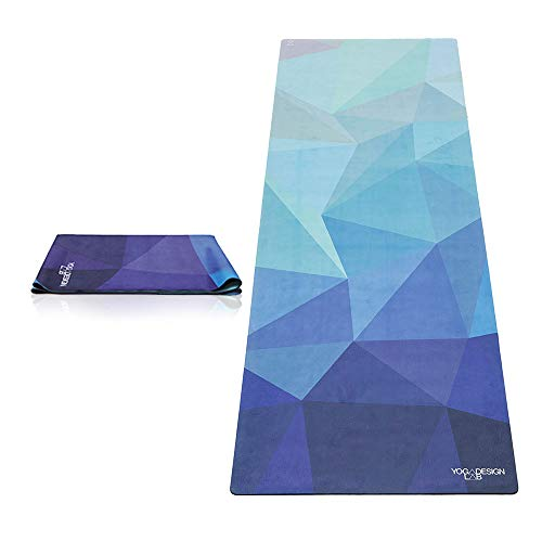 YOGA DESIGN LAB The Travel Yoga MAT Lightweight, Foldable, Eco Luxury Mat/Towel...