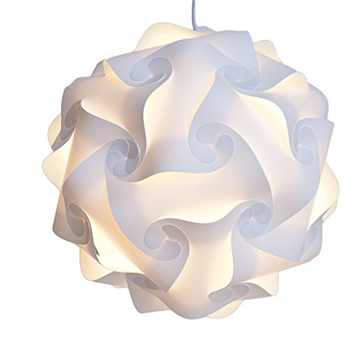 INFINITY LIGHTS Puzzle Light: White Modern Lamp Shade, X-Large (Tie Dye Lamp Shade)