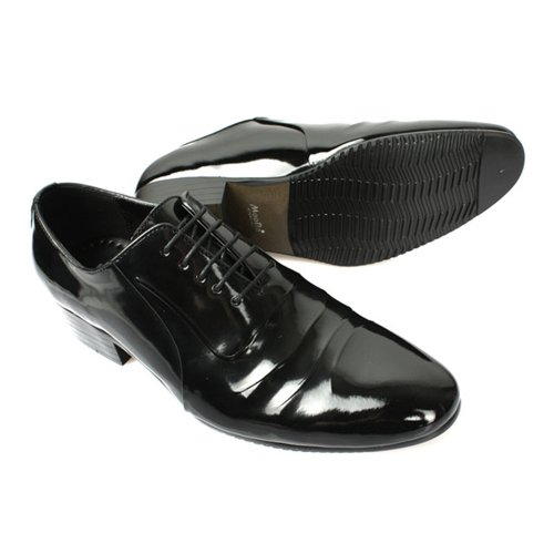 New Mens Leather Stylish Dress Lace Up Black Shoes ZkoYy9Cp