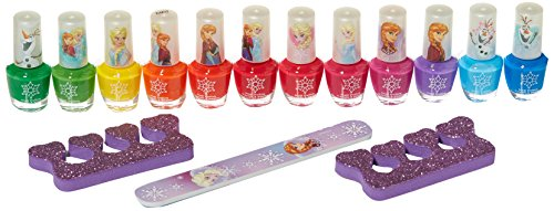 Frozen Piece Nail Set, Multicolored, 12 (Girls Nail Polish)