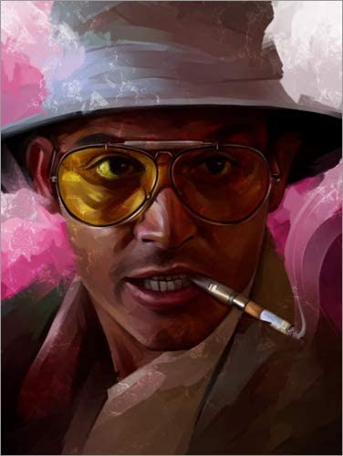 Nuovo Poster Artistico Poster 30 x 40 cm Fear And Loathing in Las Vegas di Dmitry Belov Stampa Artistica Professionale