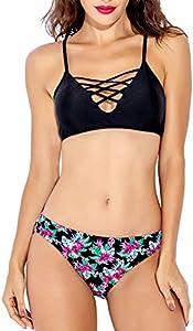 Giveaway: Women's Bikini Swimsuit Crisscross Padded Halter Two Piece...