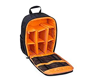 Waterproof DSLR Camera Bag Shockproof Backpack Hiking Bag-Orange