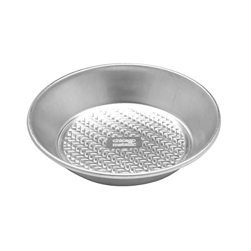 Chicago Metallic 5237989 Uncoated Textured Aluminum Classic Pie Pan, 10-Inch, Silver Chicago Metallic Pie Pan