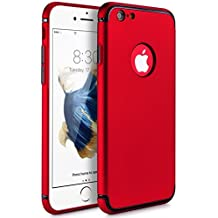 iPhone 6/6S Plus Case,Joseche Full Protective Anti-Scratch Shockproof Slim Hard Cover with Ultra Slim Coated Surface for Excellent Grip Case for iPhone 6/6s Plus for Apple iPhone 6/6s Plus (Red)