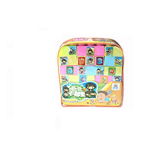 QXMEI Children's Toys Children's Building Blocks Educational Toys Variety Building Blocks Backpack Toys Product Size: 9.8inchs 9.6inchs 3.1inchs,20 ()