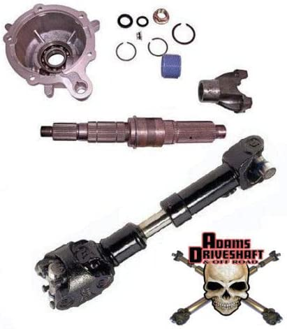 fits Jeep Wrangler TJ LJ XJ Cherokee CUSTOM BUILT FOR YOUR JEEP Adams Driveshafts Rear Driveshaft /& TERAFLEX Slip Yoke Eliminator Kit Package 33, Heavy Duty Greaseable U-Joints
