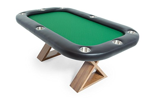BBO Poker Helmsley Poker Table for 8 Players, 72 x 46-Inch, Includes Matching Dining Top