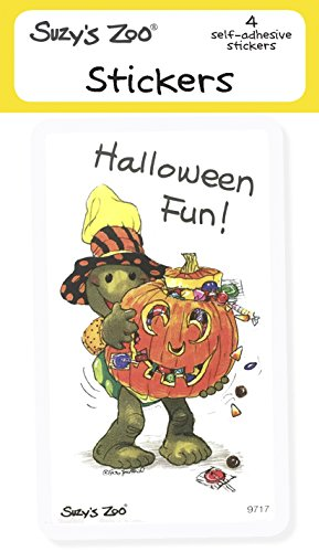 Suzy's Zoo Stickers 4-pack,Halloween Fun! ()