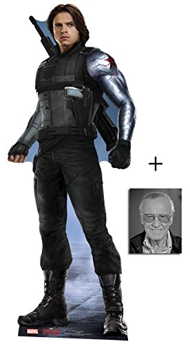 Fan Pack - The Winter Soldier Bucky Barnes Captain America: Civil War Lifesize Cardboard Cutout/Standee / Stand Up - Includes 8x10 Star Photo -  BundleZ-4-FanZ Fan Packs