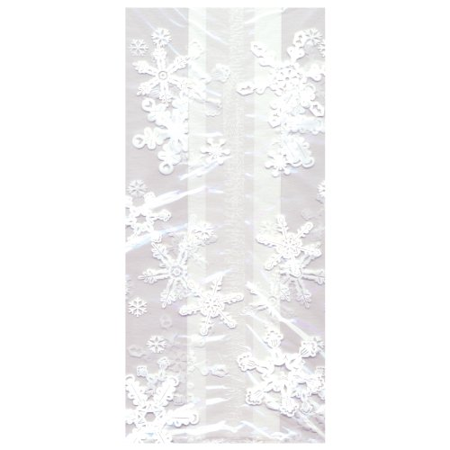 Jillson Roberts Bulk Small Christmas Cello Bags, Snowflake, 100-Count (BXSC423)