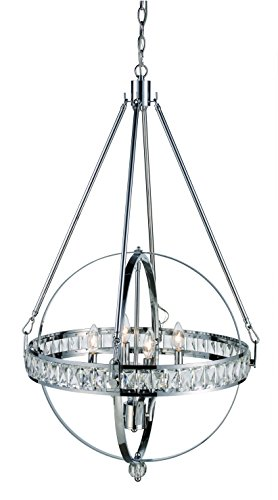 (Trans Globe Lighting 70754 PC Elan Indoor Polished Chrome Transitional Pendant, 24.75