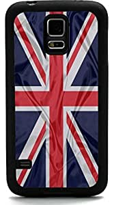 Rikki KnightTM Great Britain Flag Design Samsung? Galaxy S5 Case Cover (Black Rubber with front Bumper Protection) for Samsung Galaxy S5 i9600