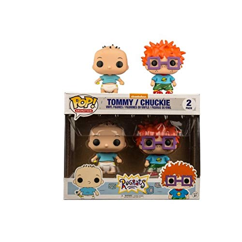 Nickelodeon Rugrats POP! Animation Tommy & Chuckie Exclusive Vinyl Figure 2-Pack