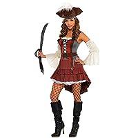 Amscan 844597 Disfraz de Pirata Castaway Adulto, Mediano, Negro