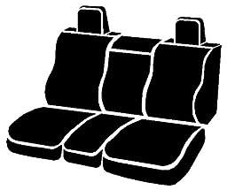 Fia SP87-19 BLACK Custom Fit Front Seat Cover Split Seat 40/20/40 - Poly-Cotton, (Black)