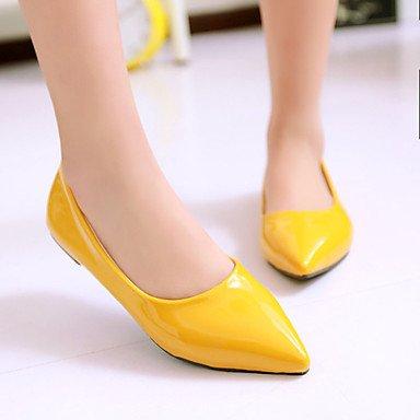 Cómodo y elegante soporte de zapatos de las mujeres zapatos talón punta Toe Pisos al aire libre/oficina y carrera/casual negro/azul/amarillo/verde/rojo/Beige rojo