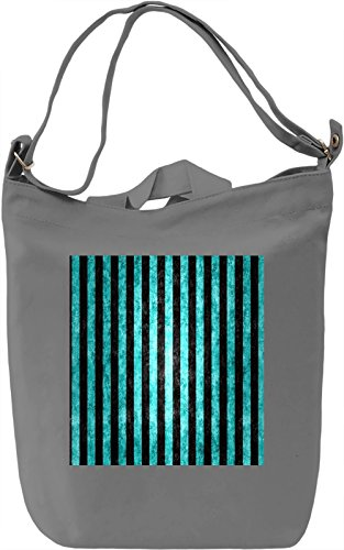 Blue Stripes Print Borsa Giornaliera Canvas Canvas Day Bag| 100% Premium Cotton Canvas| DTG Printing|
