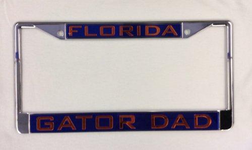 WinCraft Florida, University of Florida Gator Dad Blue L3640887 Inlaid Metal LIC Plate Frame (Gator Dad License)