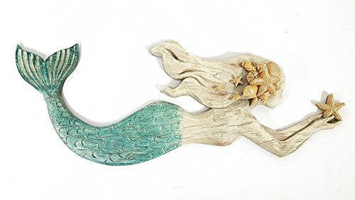 Swimming Mermaid Resin Wall Decor by Everydecor