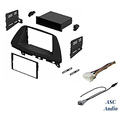 ASC Audio Car Stereo Dash Install Kit, Wire Harness, and Antenna Adapter for Installing an Aftermarket Radio for 2005 2006 2007 2008 2009 2010 Honda Odyssey: Car Electronics