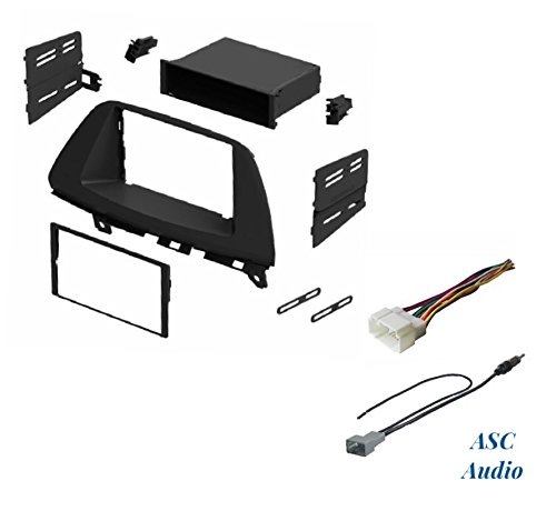 ASC Audio Car Stereo Dash Install Kit, Wire Harness, and Antenna Adapter for Installing an Aftermarket Radio for 2005 2006 2007 2008 2009 2010 Honda Odyssey