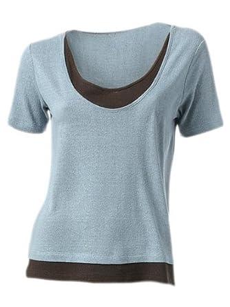 B.C. Damen Shirt   T-Shirt in Doppel-Optik Tshirt aus Seide Gr. 50  Amazon. de  Bekleidung a7221fee0b
