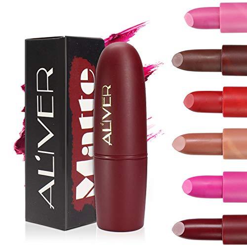 6 Colors Matte Lipstick Set, Long Lasting Velvet Lips Tint Liquid Lipstick Waterproof Lipstick Makeup 6pcs/kit