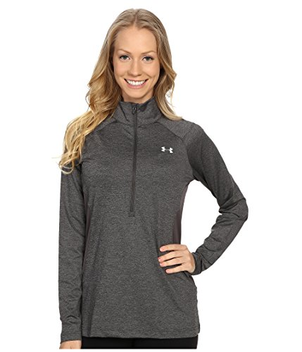Under Armour Women's CoolSwitch Thermocline 1/2 Zip Carbon Heather T-Shirt LG (US 12-14)