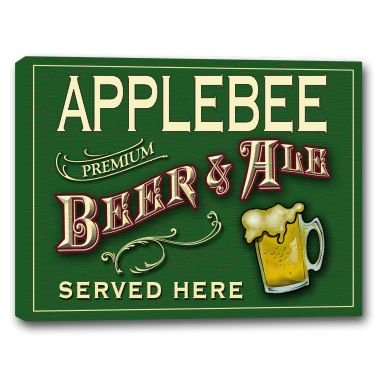 applebee-beer-ale-stretched-canvas-sign-16-x-20