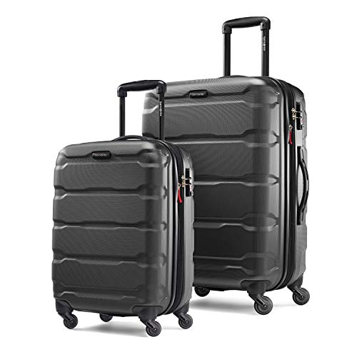 Samsonite Omni PC Expandable Hardside Luggage Set with Spinner Wheels, 2-Piece (20/24), Black (Best 2 Piece Carry On Luggage Sets)