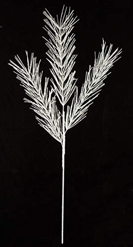 AUF001 36 Inch Glittered White/Silver Pine Spray (Sold by Piece) Christmas by Autograph