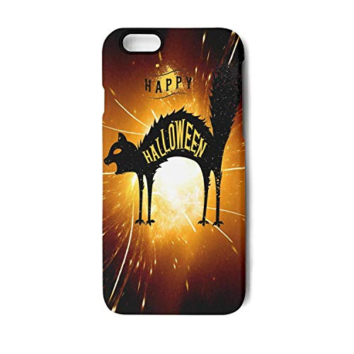 Happy Halloween Scared Black cat iPhone 7Plus case Anti-Fall Non-Slip Scratchproof Protective case for iPhone 8Plus case ()