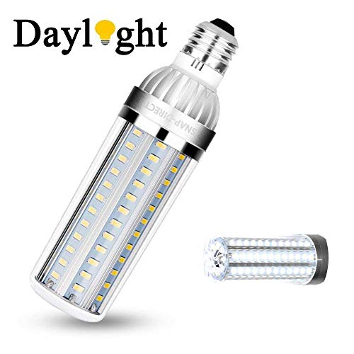 Super Bright LED Light Bulb Brightest Daylight Bulb E26 Non-Dimmable Corn Bulb for Commercial Ceiling Garage Warehouse Factory Office Barn( 25W/ 200 Watt Equivalent/ 2900 Lm/ 6500K)