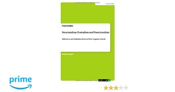 Structuralism, Formalism and Functionalism: Franz Kröber
