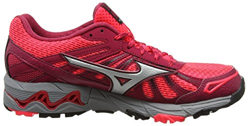 Trail Pink Running Mujin Pink W Diva Mizuno Wave Shoes Persian Silver 3 Women's Red qX58S5wYx