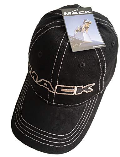 BD Mack Trucks Black & Silver Contrast Stitching Snapback Hat/Cap]()